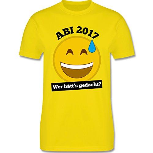 Abi & Abschluss - Abi 2017 - Wer hätt's gedacht? - Herren Premium T-Shirt Lemon Gelb