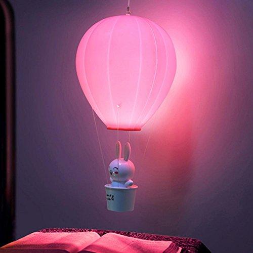 on LED Nachtlicht Niedlichen Tier Kaninchen Lampe Baby Schlafzimmer Nachttischlampe Wiederaufladbare Schreibtisch Licht Wandleuchte (Niedlichen Tier Geburtstag)