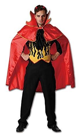 Erwachsene Herren Damen Red Hot Teufel Kostüme Onesize (Onesize, Rot) (Red Devil Kostüm Für Kinder)