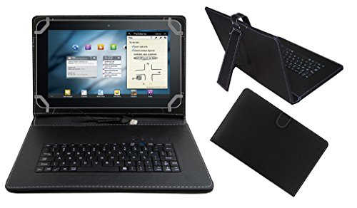 "ACM Premium USB Keyboard Tablet Case Holder Cover for Universal 10.1"" 10"" Any Tab with Free Micro USB OTG - Black"