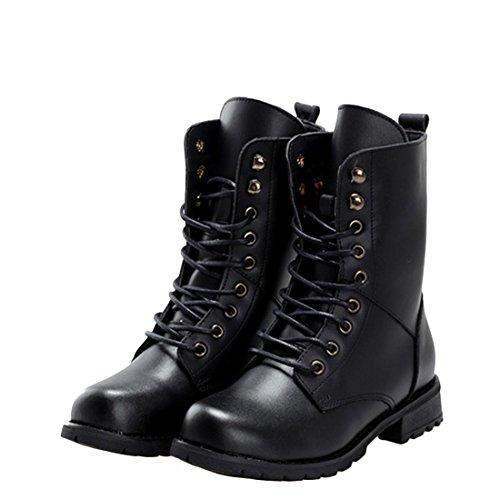 jeansian Moda Donna Piattaforma Scarpe Scarpe Sandali Romani Sandal Shoes WSA019 Black 35