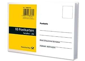 10 postkarten blanko wei aus holzfreiem papier im - Blanko postkarten ...
