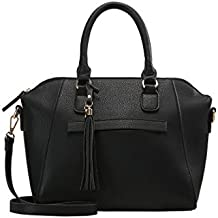 fcdf9f7646bd4 Anna Field Henkeltasche für Damen mit Fransen Taschenanhänger - Tasche mit  Tragehenkel - Handtasche mit abnehmbarem