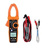 Akozon Digital Clamp Multimeter Clamp Meter 6000 Counts Backlit LCD Display NCV Non-Contact Voltage Detection Hz Ohm Capacitance Temp Meter Frequency Temperature Meter(PM2028B)