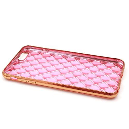 "iProtect Apple iPhone 6, 6s (4,7"") biegsame TPU Soft Case Hülle Glitzer Pailletten Design in Silber Kaleidoskop iPhone 6 Rosa"