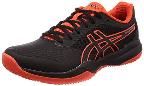 ASICS Gel-Game 7 Clay/OC, Scarpe da Tennis Uomo, Nero (Black/Cherry Tomato 010), 44.5 EU