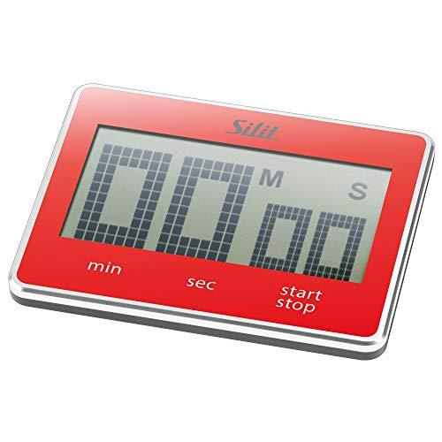 Silit Attimo Digitaler Kurzzeitmesser, 9 x 7 cm, Küchentimer, Eieruhr, Kunststoff, rot