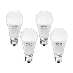 OSRAM Smart+ LED, ZigBee Lampe mit E27 Sockel, warmweiß, dimmbar, Direkt kompatibel mit Echo Plus und Echo Show (2. Gen.), Kompatibel mit Philips Hue Bridge, 4er Pack