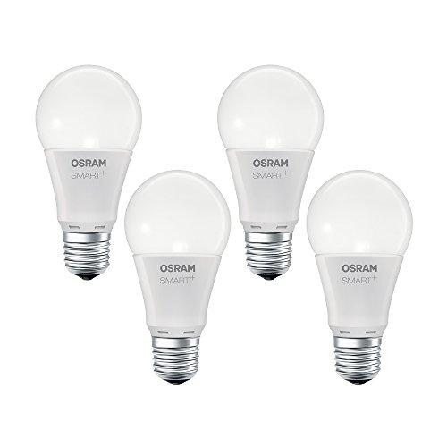 Angebot: OSRAM Smart+ LED, ZigBee Lampe mit E27 Sockel, warmweiß, dimmbar, Direkt kompatibel mit Echo Plus und Echo Show (2. Gen.), Kompatibel mit Philips Hue Bridge, 4er Pack für nur 34,99 € statt bisher 39,00 € auf Amazon