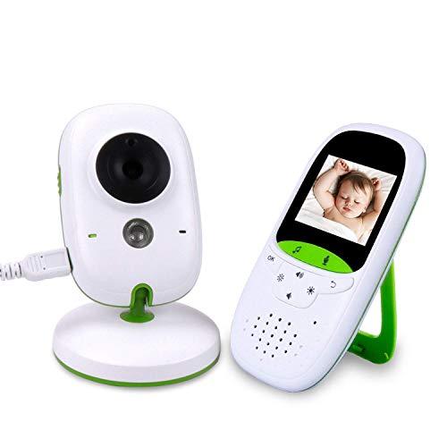 ALCST&CX 2,0 Zoll LCD Baby Monitor 2.4 GHz mit Kamera Wireless Video Babyphone Infrarotlicht 6 Meter