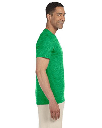 Gildan Softstyle adulto, Ringspun T-shirt Small,Heather Irish Green