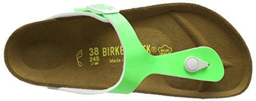 Birkenstock Gizeh Birko-Flor, Tongs femme Vert - Grün (Neon Green Lack)