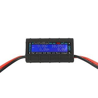VIPMOON 130 Amps Leistungsanalysator, G.T. Power RC Watt Meter mit LCD Bildschirm, für RC, Batterie, Solar, Windenergie