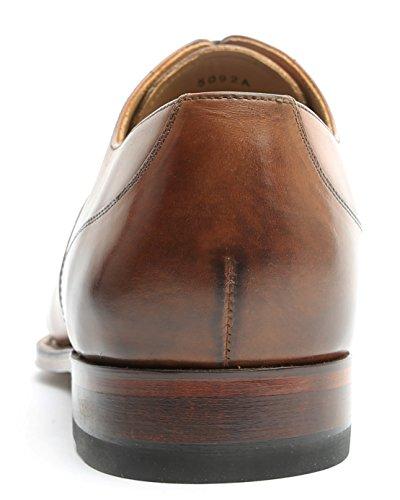 Gordon & Bros Herrenschuhe fabien 5092 Klassischer Rahmengenähter Herren Schnürhalbschuh mit Oxford Schnürung, Vorderkappe, Ledersohle für Anzug, Business und Freizeit, Goodyear Welted Brown