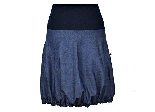 dunkle design Ballonrock Jeans Blau