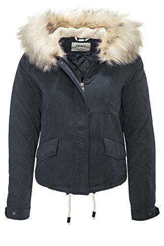 ONLY Damen onlSKYLAR FUR Parka CC OTW Jacke, Blau (Blue Graphite), 40 (Herstellergröße: L)