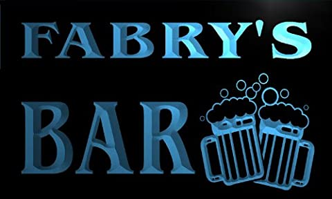 w019764-b FABRY'S Nom Accueil Bar Pub Beer Mugs Cheers Neon Sign Biere Enseigne Lumineuse