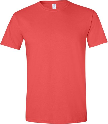Gildan Soft-Style Herren T-Shirt, Kurzarm, Rundhalsausschnitt Paprika