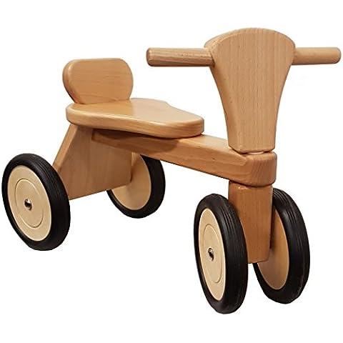 Rosilino seduta Roller GOGO naturale, Macchinina cavalcabile, in faggio massiccio,