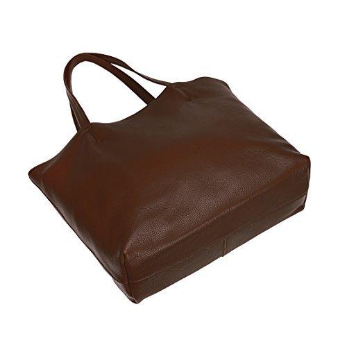 Damero delle donne Vintage spalla del sacchetto con fodera rimovibile (Medium, caffè) caffè