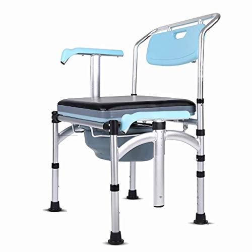 OHHG Gitter Kommode Duschstuhl Aluminiumlegierung Anti-Rutsch-Transfer Bank Badewannensitz Für Bad Sicherheit, verstellbare Beine und Arme -