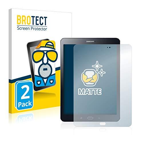 BROTECT Entspiegelungs-Schutzfolie kompatibel mit Samsung Galaxy Tab S2 9.7 (2 Stück) - Anti-Reflex, Matt