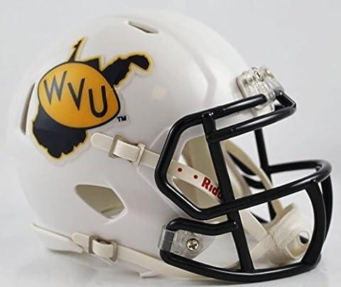 WEST VIRGINIA MOUNTAINEERS NCAA Riddell Revolution SPEED Mini Football Helmet WVU (THROWBACK) by OnField