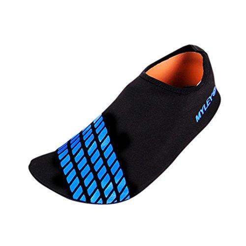 KOLY Uomini Donne Surf Beach Snorkeling Sport Nuoto calzature da immersione Scarpe da passeggio per la pelle Blue