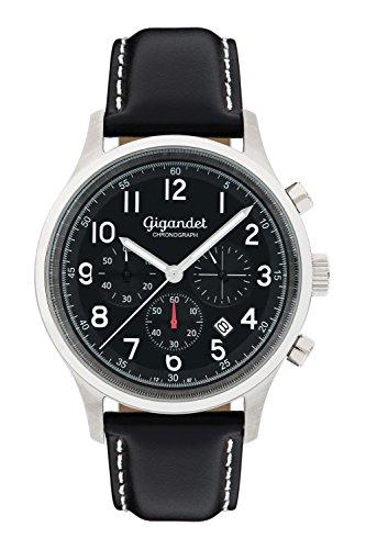 Gigandet Efficiency Men's Analogue Wrist Watch Quartz Chronograph Black G50-004