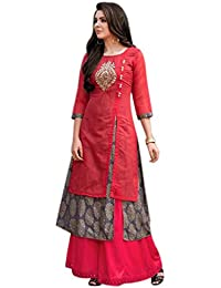 Dhruvi Trendz Women's Clothing Kurti For Women Latest Design Party Wear Collection (KV-GFK6-61YU)