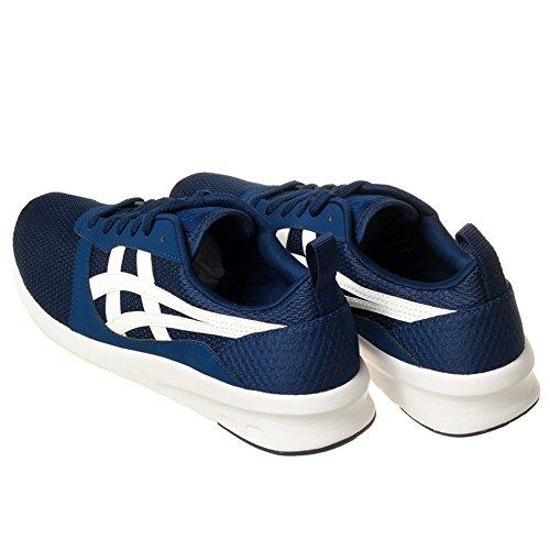 ASICS Uomo Nero/Carbon Lyte Jogger Sneaker Blue/White