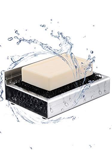 ToHa Seifenschale ohne Bohren, Badezimmer Küche 3M Selbstklebende Seifenschale Edelstahl-Seifenhalter,Extra Aufkleber Kostenlos (Halter Seife)