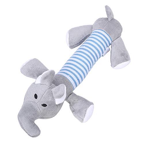 Toruiwa 1X Hundespielzeug Hund Kauen Spielzeug Elefant Plüsch Sound Glitschige Spielzeug Quietschen Haustier Spielzeug Plüschspielzeug (Grau)