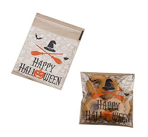 Black Temptation Packung mit 100 schönen Süßigkeiten Papers Halloween Cookie Taschen, M4