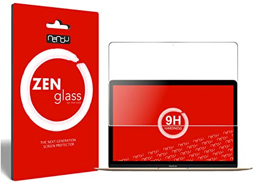 nandu I ZenGlass Flexible Glas-Folie für Apple MacBook 12 Zoll Retina Panzerfolie I Bildschirm-Schutzfolie 9H