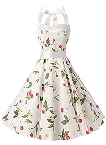 Dresstells® Halter 50s Rockabilly Polka