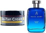 Ustraa De-Tan Cream for Men, 50 g & Ustraa Cologne - Base Camp For Men (100ml)