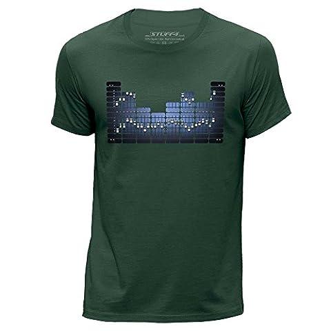STUFF4 Men's XXX Large (3XL) Dark Green Round Neck T-Shirt/Equalizer/Equalizer