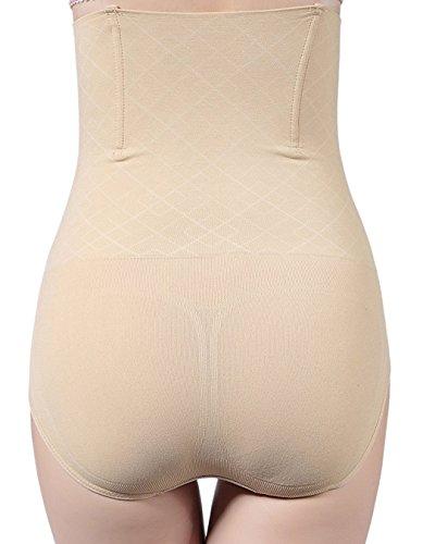 AMAGGIGO Shapewear Mutande Contenitivo Invisibile Fascia Elastica da Donna Beige-A