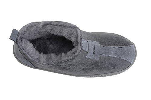 Pistoni Grigia Di Fodera Delle Lusso Donne Di Pantofole Pelle Di In Lana Pecora Scarpe Calda Con pqAr7pxnW