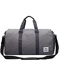 Travel Holdall Duffle Bag - Waterproof Jacquard Canvas - Weekend Overnight Weekender Duffel Bags - Gym Holdalls - Hand Luggage Size 55cm x 30 x 23-38 Litre Capacity - Outdoor Gear RL820M