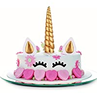 Decorazioni Torte 5 Pezzi Oro Unicorno Toppers Torta Cake Topper, Unicorno  Horn, Orecchie e