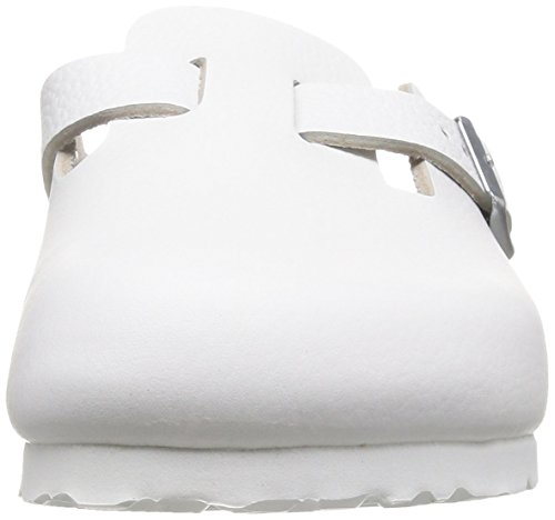Birkenstock Boston, Sabots mixte adulte Blanc