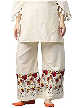 Indian Handicrfats Export Aks Regular Fit Women's White Trousers