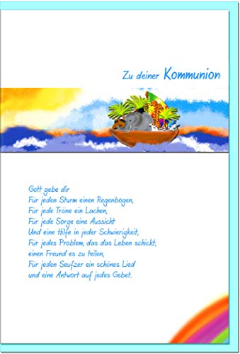metALUm Karte zur Kommunion ARCHE NOAH | 1011009S