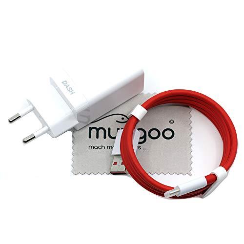 Chargeur pour Oneplus DC0504 + D301 Dash Charge 4A pour Oneplus 7, 7 Pro, 6T, 6, 5T, 5 câbles de Charge Rapide avec Chiffon de Nettoyage Mungoo