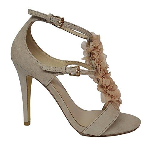 LIU JO SANDALO AIKO TC100 S17019 P0021 SOIA sandalo donna con tacco, Beige, EUR 37