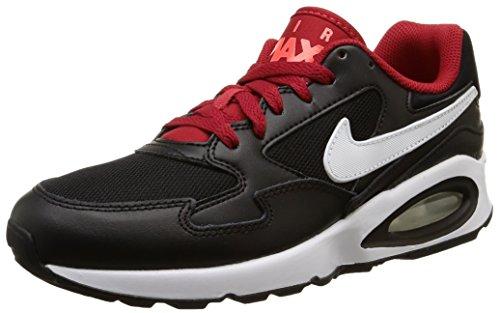 Nike Air Max St (Gs), chaussure de course garçon noir / Blanc / Rouge (Black / Blanc-Gym Rd-Brght Crmsn)