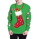 Weihnachten Bluse Damen, Elecenty Frauen Sweatshirt Weihnachtspullover Weihnachtspulli Pullover Christmas Sweater Oberteile