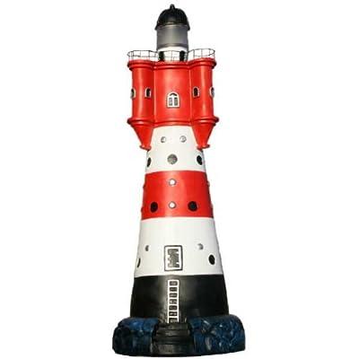 Groer Deko Leuchtturm Roter Sand Mit Blinklicht Wetterfest Ca 50cm von Vamundo